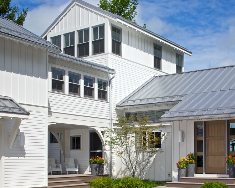 Modern House Metal Roof Exterior Traditional With Board And Batten 9benchmark Roofing2017 01 11t19 54 47 00