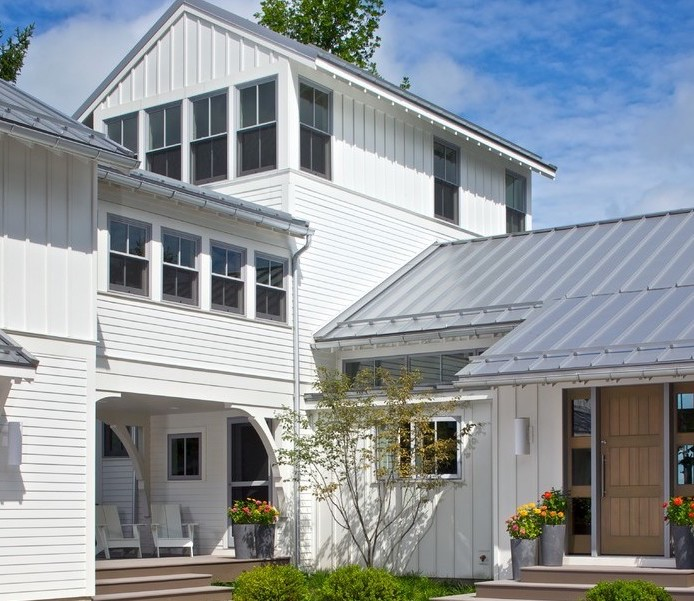 Modern house metal roof exterior traditional with metal for Modern homes with metal roofs