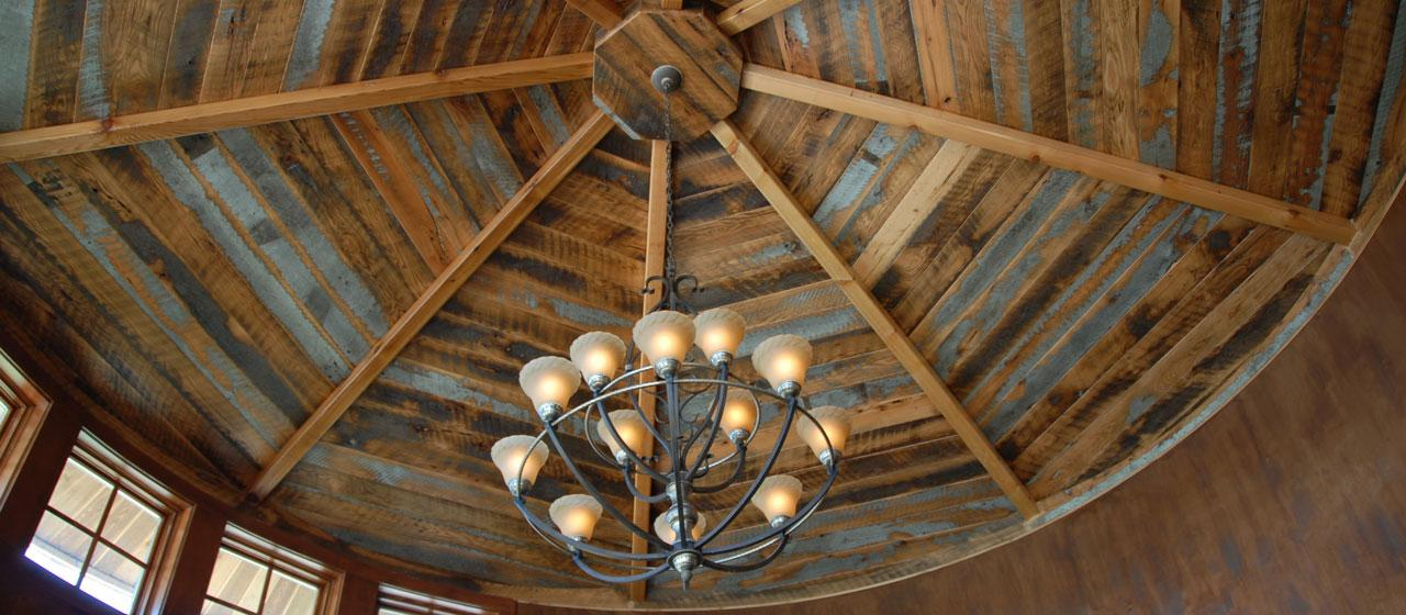 Reclaimed Wood Ceiling Rustic
